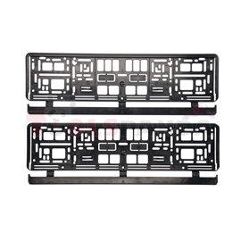 Registration plate frame rectangular (2pcs, black)