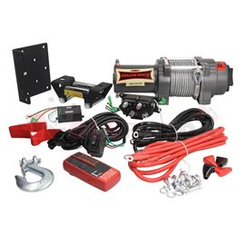 ATV and quad winches Highlander towing 2041kg 1,9HP voltage 12V transmission 3-step planetary reduction 136:1 rope type steel 15