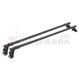 Loading carrier bar (2 pcs, Steel, length: 120 cm, payload: 50 kg, Black, for commercial vehicles) SNOVIT ESPECIFICA 311055