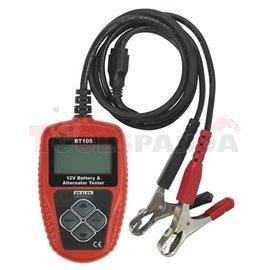 BT105 Conductance battery tester 12V, 100-2000 EN, served battery type: AGM, EFB, GEL, WET, measuring norms: DIN EN IEC SAE prin