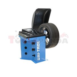 Баланс машина TROLL 2312 S за баланс на гуми за леки и товарни автомобили. Система за лесна калибрация подобрява точността на ба