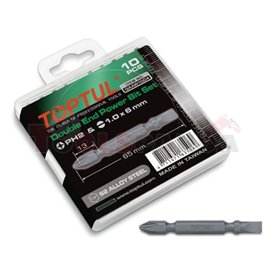 Zestaw końcówek wketakowych, dwustronne, PH2 x płaski 6mm, 10szt
