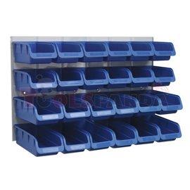 Контейнери за съхранение 24 броя + табло, размери малки - 100х160х75мм и големи - 100х210х75мм