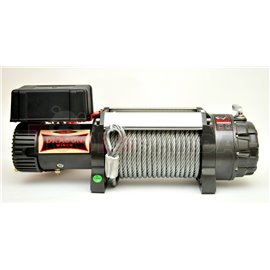 Off-road vehicle winch Highlander towing 6803kg 9HP, voltage 12V transmission 3-step planetary reduction 274:1 rope type: steel