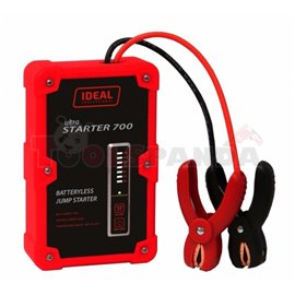 Batteryless starting device model: ULTRA STARTER, voltage: 12V, cCA: 400A, max. cranking ampere: 700A, weight: 1,3 kg, the devic