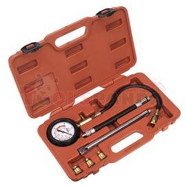 SEALEY комплект за измерване на компресия налягане, бензинови двигатели, преходници 10, 12, 14 и 18 мм, Удължаване