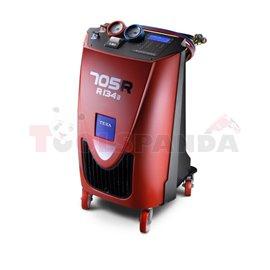 Апарат за поддръжка A/C KONFORT 705R: R134a за автомобили, камиони, агро размери: 1050/598/613 резервоар 10кг вакуум помпа 100 л