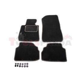 Гумени стелки (велур, 4бр, графит(сив)) BMW 3 (E90), 3 (E91), 3 (E92) 02.04-12.13