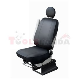 Cover seats (eco-leather, colour: black, driver seat) BUS I L, compatible with airbags