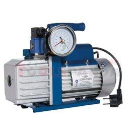 ERRECOM - Независима вакуумна помпа (двустепенна) с капацитет 70 l / min със соленоиден клапан и манометър