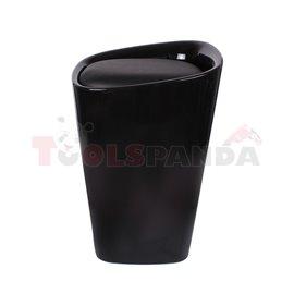 Табуретка Eleganta, ABS пластмасa, квадратна, черна