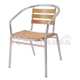 Алуминиев стол + дърво Muhler OYB6102