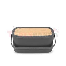 Кутия за хляб Brabantia Nic, Dark Grey