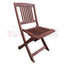 Сгъваем стол Muhler, дърво Meranti, 47х56х84cm