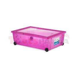 Универсална кутия Stefanplast Rollbox с колелца, розова