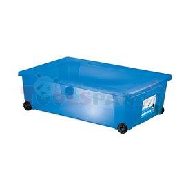 Универсална кутия Stefanplast Rollbox с колелца, синя