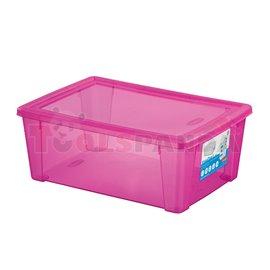 Универсална кутия Stefanplast Visual Box L, 10L, розова