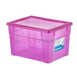 Универсална кутия Stefanplast Visual Box XL High, 15L, розова