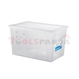 Универсална кутия Stefanplast Visual Box XXL High, 62L, прозрачна