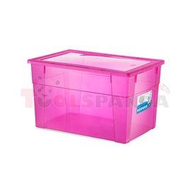 Универсална кутия Stefanplast Visual Box XXL High, 62L, розова
