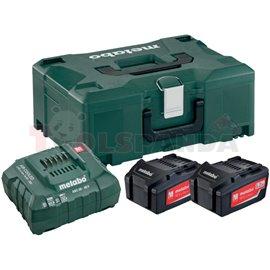 Базов комплект акумулатори 18V ASC 30-36 + 2x5.2 Ah LiPower + Metaloc II