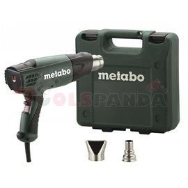 Пистолет за горещ въздух 2000W METABO H 20-600 в куфар с дюзи