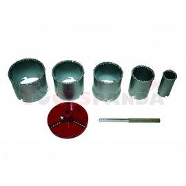 Боркорони за керамични плочки ø33-83мм. 7 части к-т | RAIDER