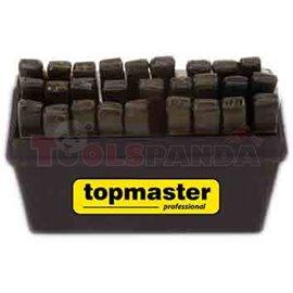 Букви хром 1.5x12.5мм. 27 бр. к-т | Topmaster Pro