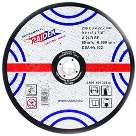 Диск за рязане на метал ø115х3.2х22.2мм. | RAIDER