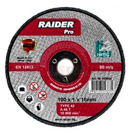 Диск за рязане на метал за пневматичен ъглошлайф ø100x1x16мм. | RAIDER