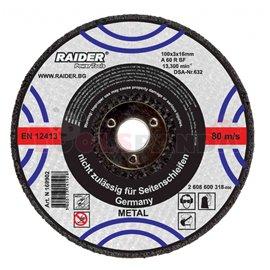 Диск за рязане на метал за пневматичен ъглошлайф ø100x3х16мм. | RAIDER