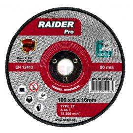 Диск за шлайфане за пневматичен ъглошлайф ø100x6x16мм. | RAIDER