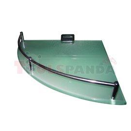 Етажерка за баня стъклена ъглова 250мм. | Top Chrome