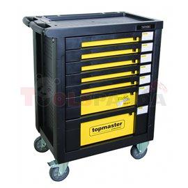 Количка за инструменти комплект 6 чекемджета -220 части | Topmaster Pro
