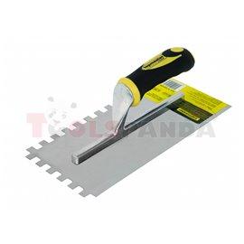 Маламашка пластмасова дръжка 280х130мм. с гребен 10x10   Topmaster Pro