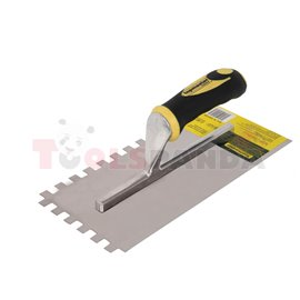 Маламашка пластмасова дръжка 280х130мм. с гребен 8x8   Topmaster Pro