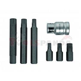 Накрайници XZN М6-М12 к-т 6 бр. S2 + адаптор | Topmaster Pro