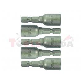 Накрайници за самопробивни винтове 10x65мм. 5 бр. к-т | Gadget