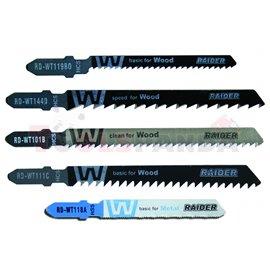 "Нож за зеге за дърво и метал ""T"" 5 бр. к-т | RAIDER"