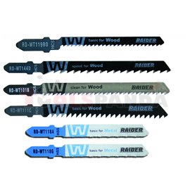 "Нож за зеге за дърво и метал ""T"" 10 бр. к-т | RAIDER"