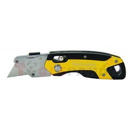 Нож макетен сгъваем алуминиев с 4 резеца | Topmaster Pro