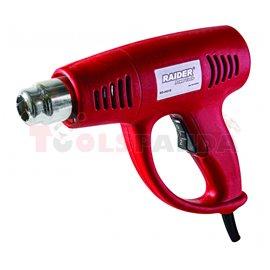 Пистолет за горещ въздух 2000W 2степени + аксесоари в куфар RD-HG18 | RAIDER