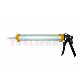 """Пистолет за силикон алуминиев 15""""(375мм.)   TopStrong"""
