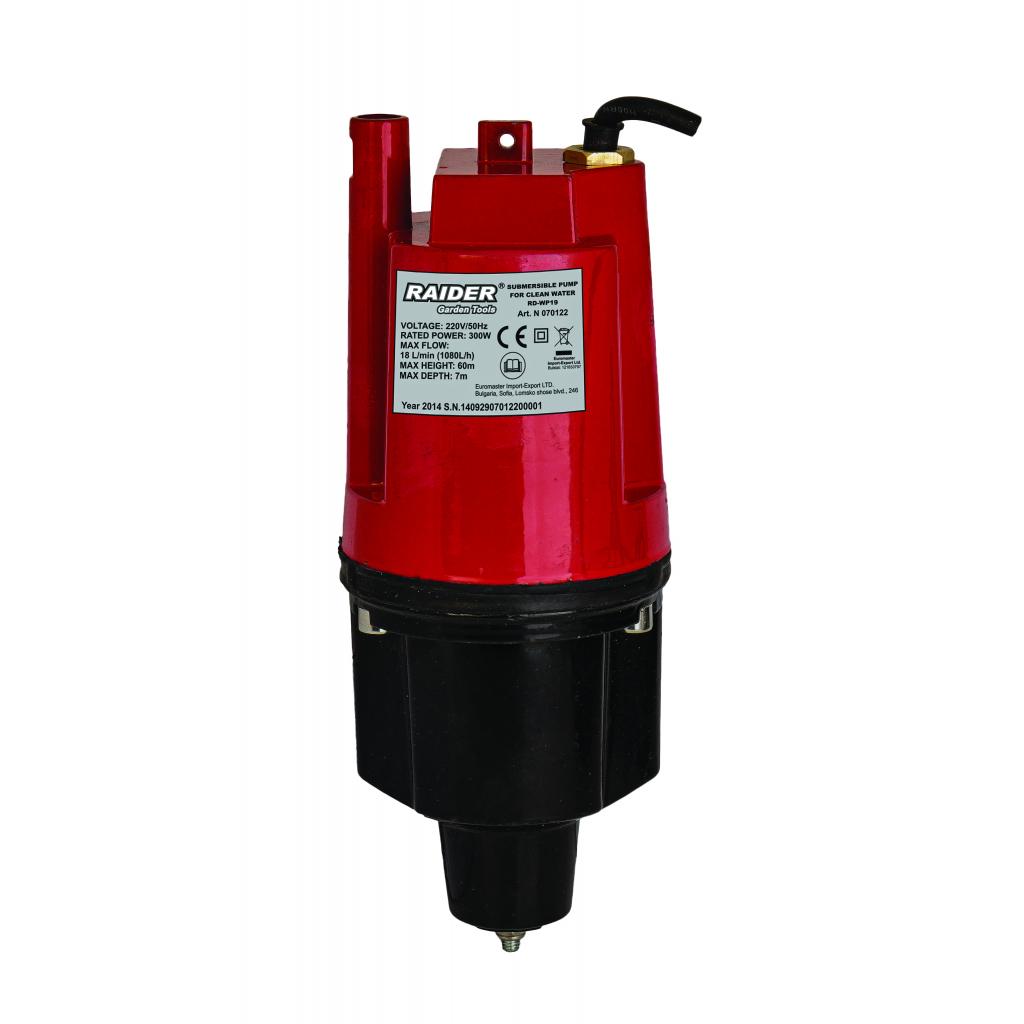 "Помпа водна потопяема за чиста вода 300W 3/4"" 18 л./мин. 60m RD-WP19 | RAIDER"