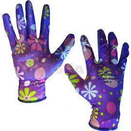 Ръкавици градински полиестерно трико/нитрил - хенгер   TopStrong