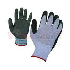 Ръкавици сиво трико / сив латекс - хенгер   TopStrong