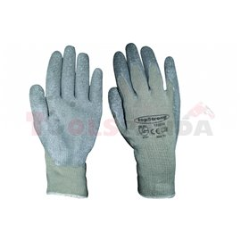 Ръкавици сиво трико / сив латекс TS-RU002   TopStrong