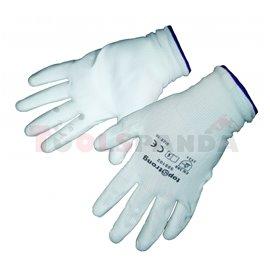 Ръкавици топени в полиуретан бели, р-р 10   TopStrong