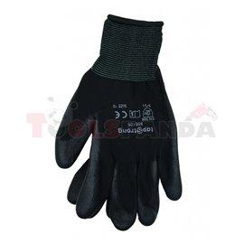 Ръкавици топени в полиуретан черни, р-р 10   TopStrong