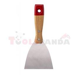 Шпакла с дървена дръжка 75мм. | TopStrong